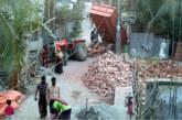 কলাপাড়ায় অবাধে ট্রলি চলাচল, ভাঙছে সড়ক