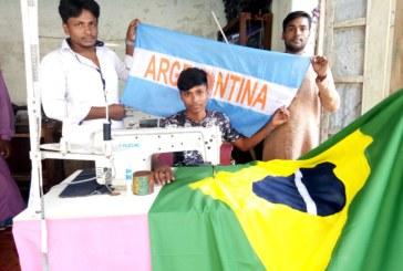 বিশ্বকাপ ফুটবল উন্মাদনায়  ভাসছে আত্রাই