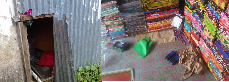 কচুয়ার পালাখাল বাজারে ২টি দোকানে দুর্ধুর্ষ চুরি