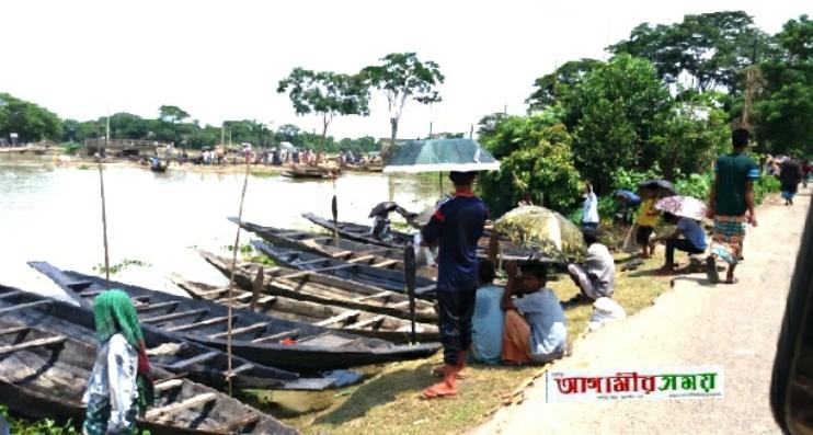 দক্ষিণ সুনামগঞ্জ,জগন্নাথপুর ও তাহিরপুরে জমজমাট নৌকার হাট