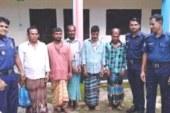 জগন্নাথপুরের কলকলিয়ায় চার জুয়াড়ী গ্রেফতার