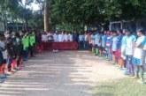 চুয়াডাঙ্গার রায়পুরে জাতীয় শিশু-কিশোর মঞ্চ ফুটবল টুর্নামেন্ট-২০১৮'র ফাইনাল খেলা অনুষ্ঠিত।