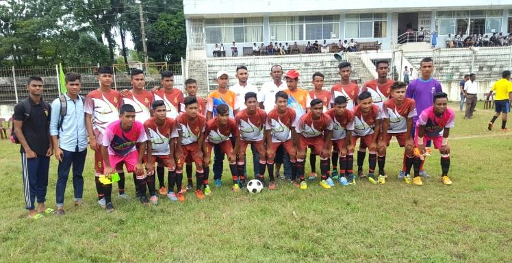 বঙ্গবন্ধু গোল্ডকাপ ফুটবল (অনূর্ধ্ব- ১৭) টুর্নামেন্টে জেলা পর্যায়ে জগন্নাথপুর উপজেলা সেমিফাইনালে