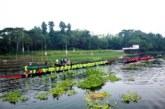 নবাবগঞ্জে শারদীয় দূর্গাপূজা উপলক্ষে নৌকা বাইচ প্রতিযোগীতা