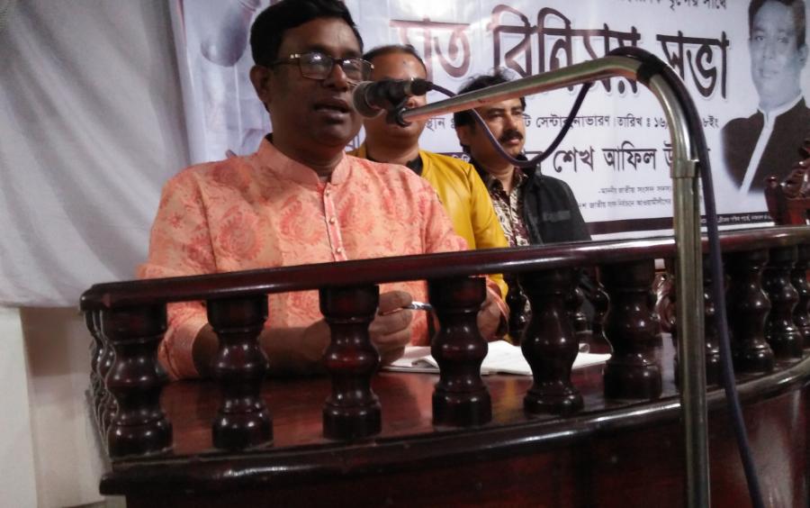শার্শায় সাংবাদিকদের সাথে শেখ আফিল উদ্দিন এমপির মতবিনিময়