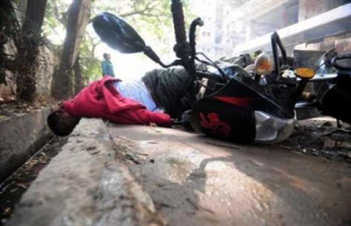নওগাঁয় সড়ক দুর্ঘটনায় মোটরসাইকেল আরোহী নিহত