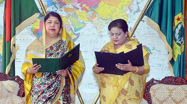 শপথ নিলেন সৈয়দ আশরাফের বোন সৈয়দা জাকিয়া নুর