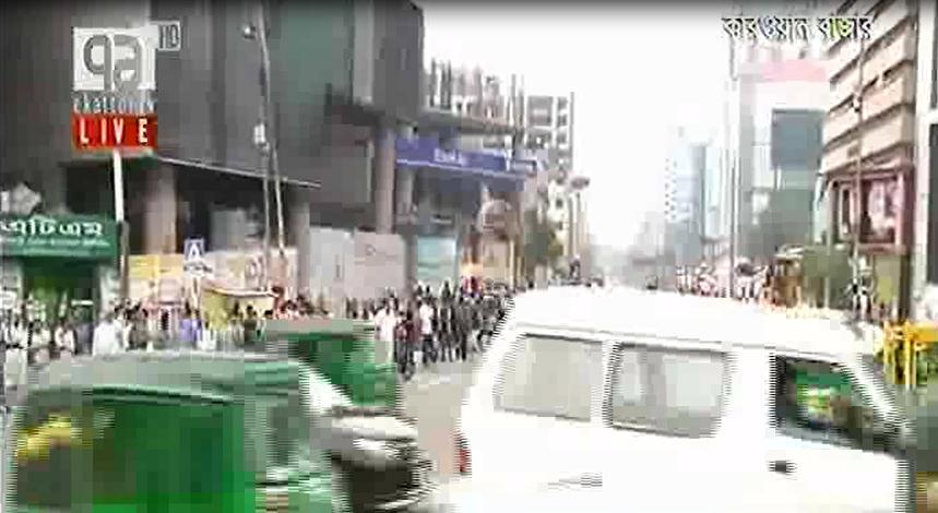 ট্রাফিক সপ্তাহের দ্বিতীয় দিনে রাজধানীতে গাড়ি চলাচল কম