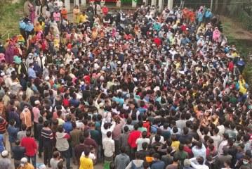 কুষ্টিয়ায় বঙ্গবন্ধুর ভাষ্কর্য ভাঙচুরের প্রতিবাদে কেরানীগঞ্জ বিক্ষোভ