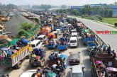 ঢাকা-টাঙ্গাইল মহাসড়কে যানবাহনের কচ্ছপ গতি